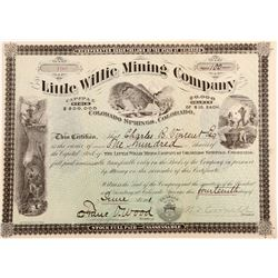 Little Willie Mining Company Stock Certificate  (102499)