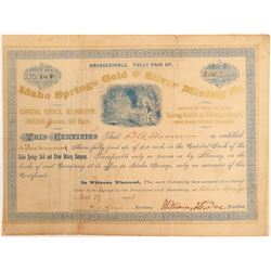 Idaho Springs Gold & Silver Mining Co. Stock Certificate  (102500)