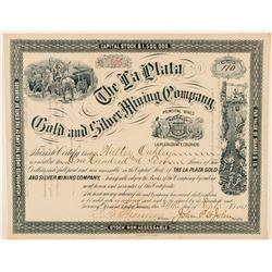 La Plata Gold & Silver Mining Co. Stock Certificate  (91625)