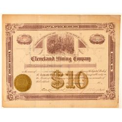 Cleveland Mining Company Stock Certificate  (100867)