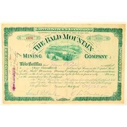 Bald Mountain Mining Company Stock Certificate  (91572)