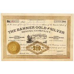 Banner Gold & Silver Mining Company Stock Certificate  (91749)