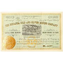 Bonanza Gold & Silver Mining Co. Stock Certificate  (91553)