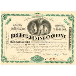 Breece Mining Company of Leadville Stock Certificate  (91815)
