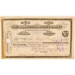 Brookland Mining Co. of Leadville Stock Certificate  (91620)