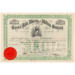 Crystal Lake Mining & Milling Co. Stock Certificate  (91629)