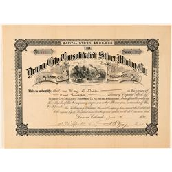 Denver City Cons. Silver Mining Co. Stock Certificate  (100868)