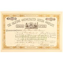 Grafton Consolidated Mining Company Stock Certificate  (91845)