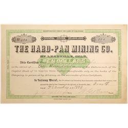 Hard-Pan Mining Company Stock Certificate  (102496)