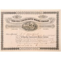 Iron Hill Consolidated Mining Company Stock Certificate  (91550)