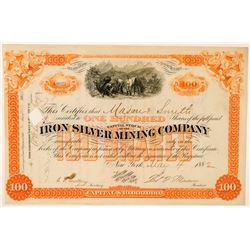 Iron Silver Mining Company Stock Certificate  (91597)