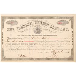 Jocelyn Mining Co. Stock Certificate  (91551)