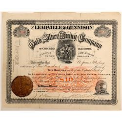 Leadville & Gunnison Gold & Silver Mining Co. Stock Certificate  (102507)