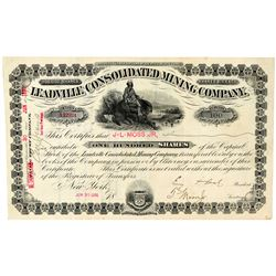 Leadville Consolidated Mining Co. Stock Certificate   (91747)