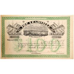Leadville Grand Union Cons. Mining Co. Stock Certificate  (102504)