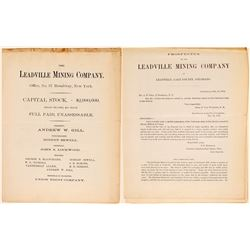 Leadville Mining Company - 1878 prospectus  (104803)
