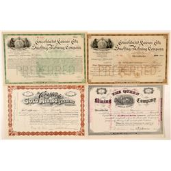 Leadville Mining Stock Certificate Group  (91636)