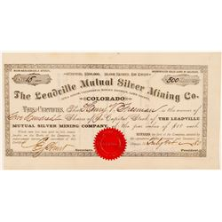 Leadville Mutual Silver Mining Co. Stock Certificate  (91624)