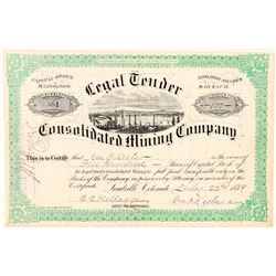 Legal Tender Consolidated Mining Co. Stock Certificate  (91590)