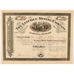 Lincoln Mining Company Stock Certificate  (91622)