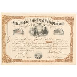 Little Pittsburg Cons. Mining Co. Stock signed by JB Chaffee  (91813)