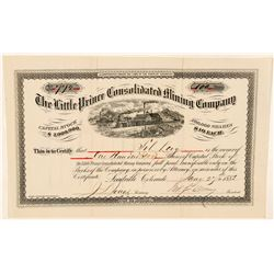 Little Prince Consolidated Mining Co. Stock Certificate  (91871)