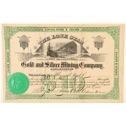 Lone Star Gold & Silver Mining Co. Stock Certificate  (91743)
