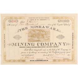 Mishawaka Mining Company Stock Certificate  (91808)