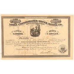 Noble Consolidated Silver Mining Co. Stock Certificate  (91804)