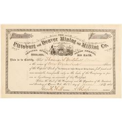 Pittsburg and Denver Mining & Milling Co. Stock Certificate  (91826)
