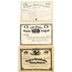 Three Different Unissued Leadville Mining Stocks  (91772)