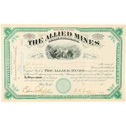 Allied Mines Stock Certificate  (91570)