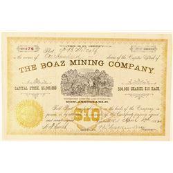 Boaz Mining Company Stock Certificate  (91566)