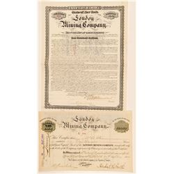 London Mining Company Stock Certificate & Bond  (91878)