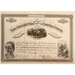 Lower Belt Gold & Silver Mining, Milling, Reduction & Tunneling Co. Stock  (102498)
