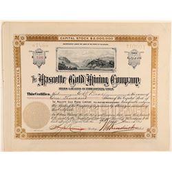 Mascotte Gold Mining Company Stock Certificate  (91800)