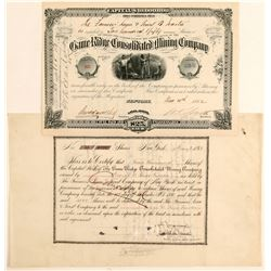 Game Ridge Consolidated Mining Company Stock Certificates  (91844)
