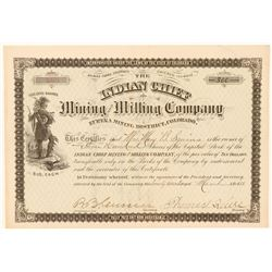 Indian Chief Mining & Milling Co. Stock Certificate (Animas Forks)  (91734)