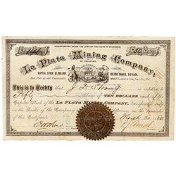 La Plata Mining Company Stock Certificate   (91732)
