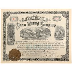 Mountain Queen Mining Company Stock Certificate  (102497)