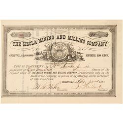 Hecla Mining & Milling Co. Stock Certificate  (91741)