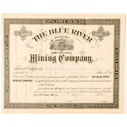 Blue River Mining Co. Stock Certificate  (91558)