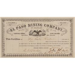 El Paso Mining Co. of Colorado Stock Certificate  (100864)