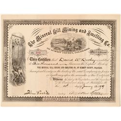 Mineral Hill Mining & Smelting Co. Stock Certificate  (91721)