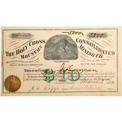 Holy Cross Mountain Cons. Mining Co. Stock Certificate  (102495)