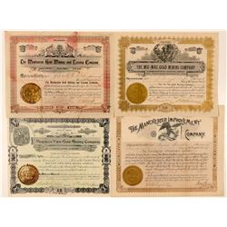 Four Different Colorado Mining Stock Certificates  (91720)