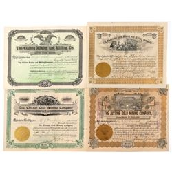 Four Different Colorado Mining Stock Certificates  (91762)
