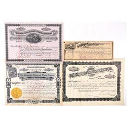 Four Nice Colorado Mining Stock Certificates  (91764)