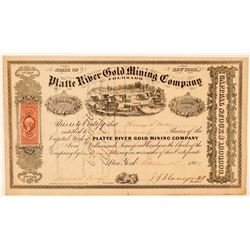 Platte River Gold Mining Co. of Colorado Stock Certificate   (91875)