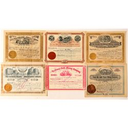 Six Different Colorado Mining Stock Certificates  (91831)